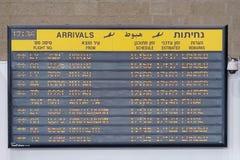 Programma van vliegtuigenaankomst stock fotografie
