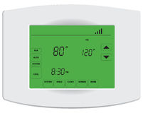 Programmable digital thermostat Stock Images