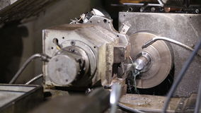 Programmable lathe work stock video footage