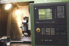 Programmable machine. Panel from programmable automatic machine tool Royalty Free Stock Photo