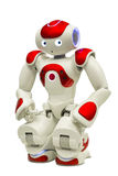Programmable robot on white stock image