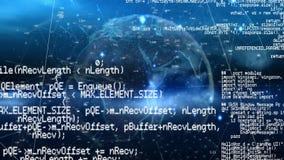 Programmacodes en de aarde stock illustratie