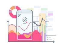 Programmaimpuls op smartphone vector illustratie
