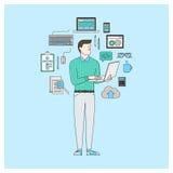 Programmateur de logiciel illustration de vecteur