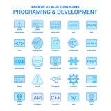 Programmation et développement Tone Icon Pack bleue - 25 ensembles d'icône illustration de vecteur