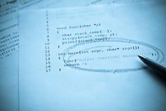 Programmation par ordinateur Image stock