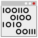Programmation sur des fenêtres Image stock