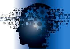 Programmatore Binary Codes del pirata informatico Immagini Stock Libere da Diritti