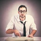 Programmatore del nerd fotografie stock libere da diritti