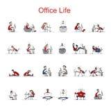 Programmatori sul lavoro, vita dell'ufficio, schizzo per la vostra progettazione Immagini Stock