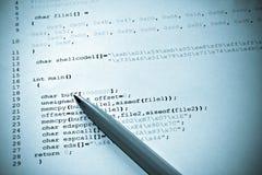 Programmazione di calcolatore Immagine Stock