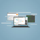 Programmazione e sviluppo Immagini Stock