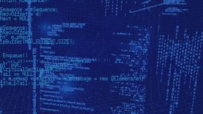 Programmcodes stock footage