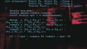Programmcodes stock video
