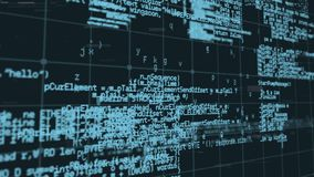 Programmcodes und -störschübe stock video footage