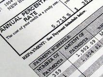 Programme d'amortissement comptable d'hypothèque Photographie stock