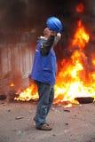 Programme de démonstration dans l'incendie Photos libres de droits