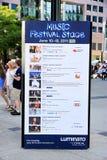 Programme de festival de Luminato Images stock