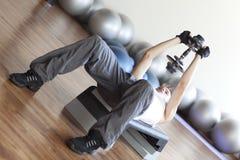 programme de forme physique - levage de poids Photos libres de droits