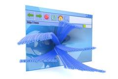 Programme de lecture d'Internet Photographie stock libre de droits