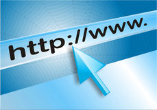 Programme de lecture d'Internet Photos libres de droits
