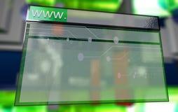 Programme de lecture d'Internet dans le cyberespace Photos stock
