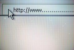 Programme de lecture de WWW Photographie stock libre de droits