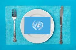 Programme de nourriture de l'ONU image stock