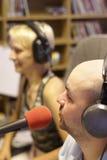 Programme de radiodiffusion dans l'enregistrement Photographie stock libre de droits
