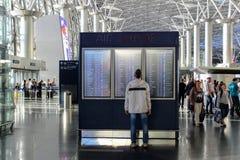 Programme de vol à l'aéroport international Vnukovo Moscou - juillet 2017 Images libres de droits