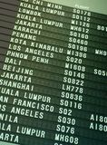 Programme de vol image libre de droits