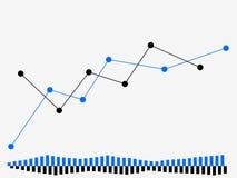Programme du commerce sur le marché boursier Forex d'écran de commerçant, bougies courantes Vecteur Image stock
