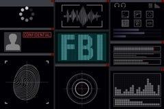 Programme pour le FBI illustration libre de droits
