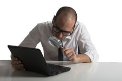 Programmer. Concept of software programmer at work Royalty Free Stock Photo