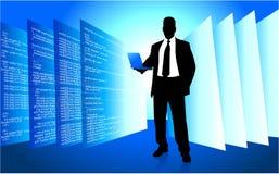 IT programmer accessing internet on laptop Stock Photo