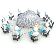 Programmer, brain Stock Photo