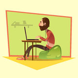 Programmer Cartoon Illustration Royalty Free Stock Image