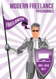 Programmer freelancer design concept Stock Photo