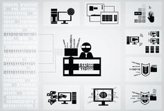 Programmer icon Stock Images
