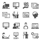 Programmer Icons Set Stock Photo