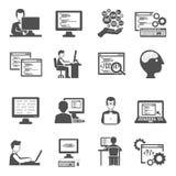 Programmer Icons Set Stock Photo