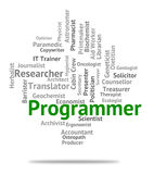 Programmer Job Shows Recruitment Jobs And Hiring Royalty Free Stock Photography