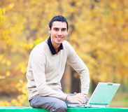 Programmer with notebook Royalty Free Stock Photo