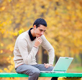 Programmer with notebook Royalty Free Stock Photography