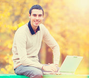 Programmer with notebook Stock Image