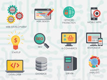 Programmer software developer icons set . Stock Images
