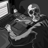 The programmer who worked Royalty Free Stock Image