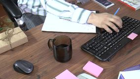 Programmer at work stock footage