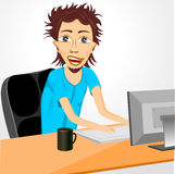 Programmer working at computer Royalty Free Stock Image