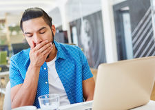 Programmer working overtime Royalty Free Stock Image